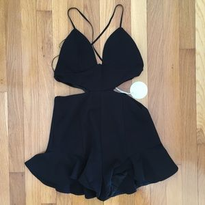 NEW LUXXEL Romper by Nastygal Sabo skirt M $59